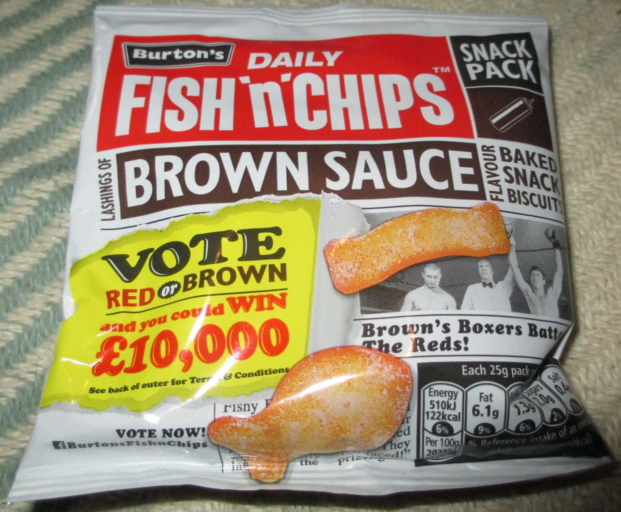 Foodstuff finds burton s fish and chips snacks red sauce for Fish and chips sauce