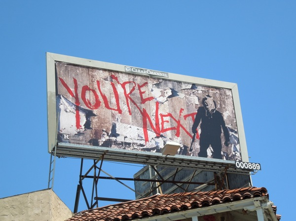 You're Next graffiti movie billboard