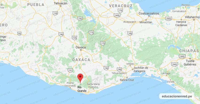 Temblor en México de Magnitud 5 (Hoy Lunes 17 Agosto 2020) Terremoto - Sismo - Epicentro - Río Grande - Oaxaca - OAX. - SSN - www.ssn.unam.mx