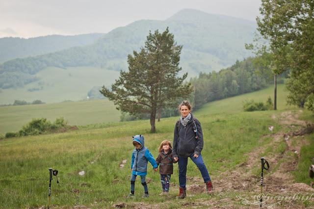 beskid niski z dzieckiem, dziećmi, góry w ciąży