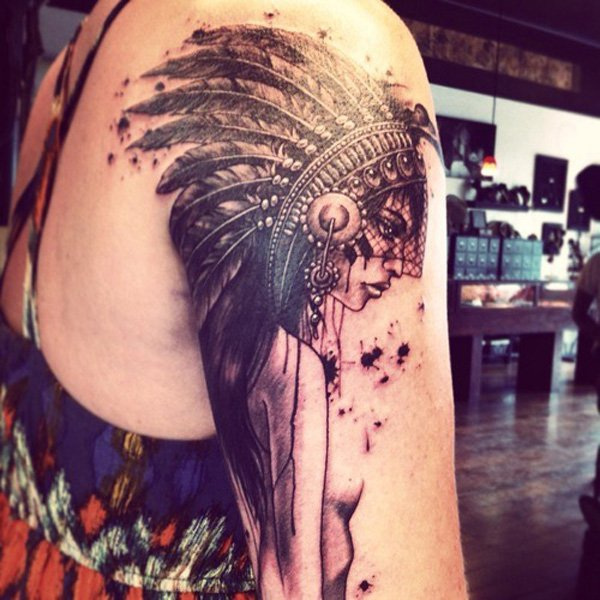 Pictures Of Native American Sleeve Tattoos Kidskunstinfo