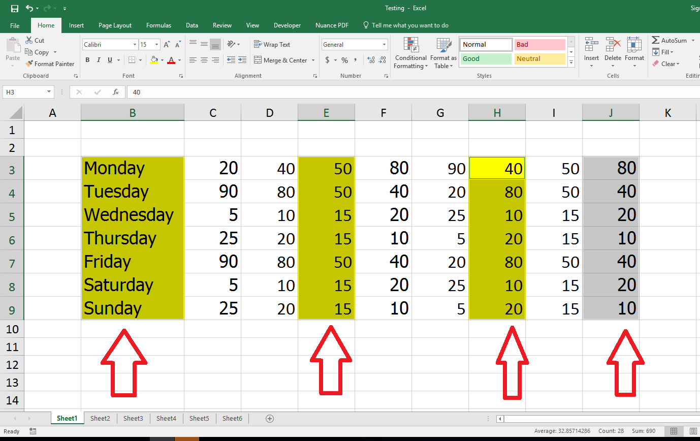 Learn New Things Ms Excel How To Select Different Multiple Cell