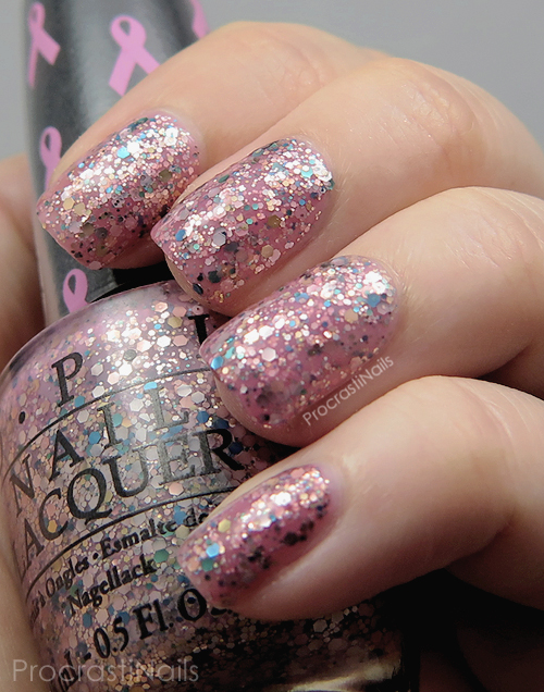 Swatch of OPI More Than a Glimmer from the OPI 2013 Limited Edition Pink of Hearts Duo