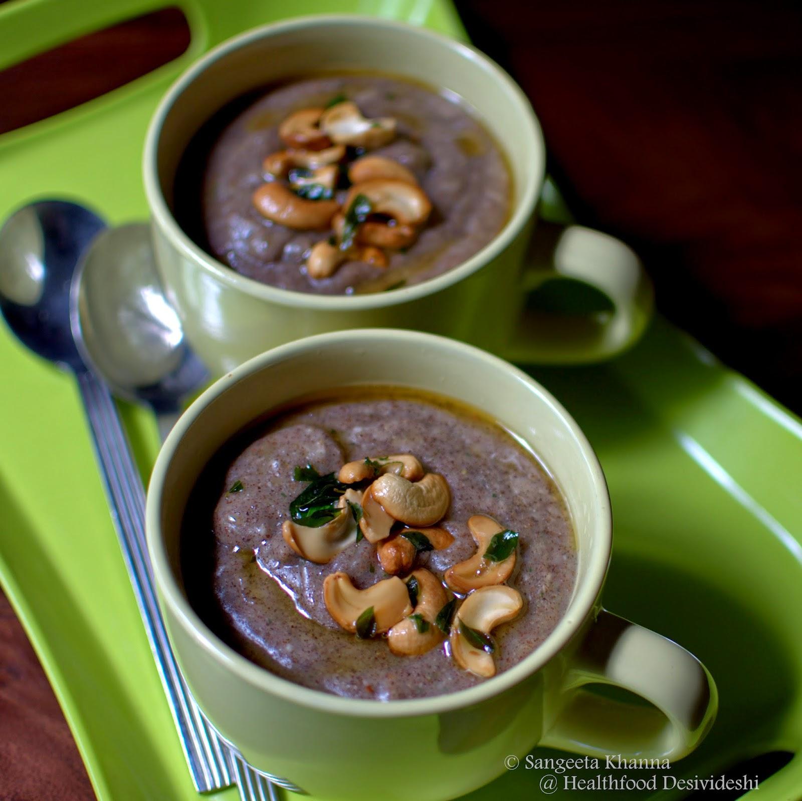 savoury ragi porridge