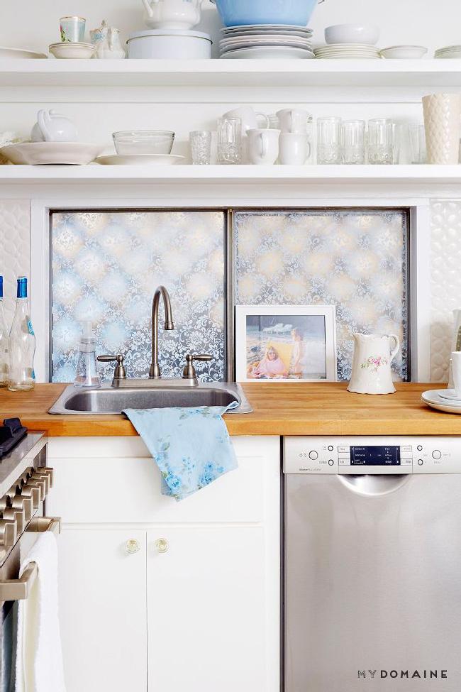Arredare piccoli spazi: la mobilhome shabby chic di Rachel Ashwell cucina
