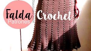 Patrones de Falda para tejer a Crochet / Explicaciones en español