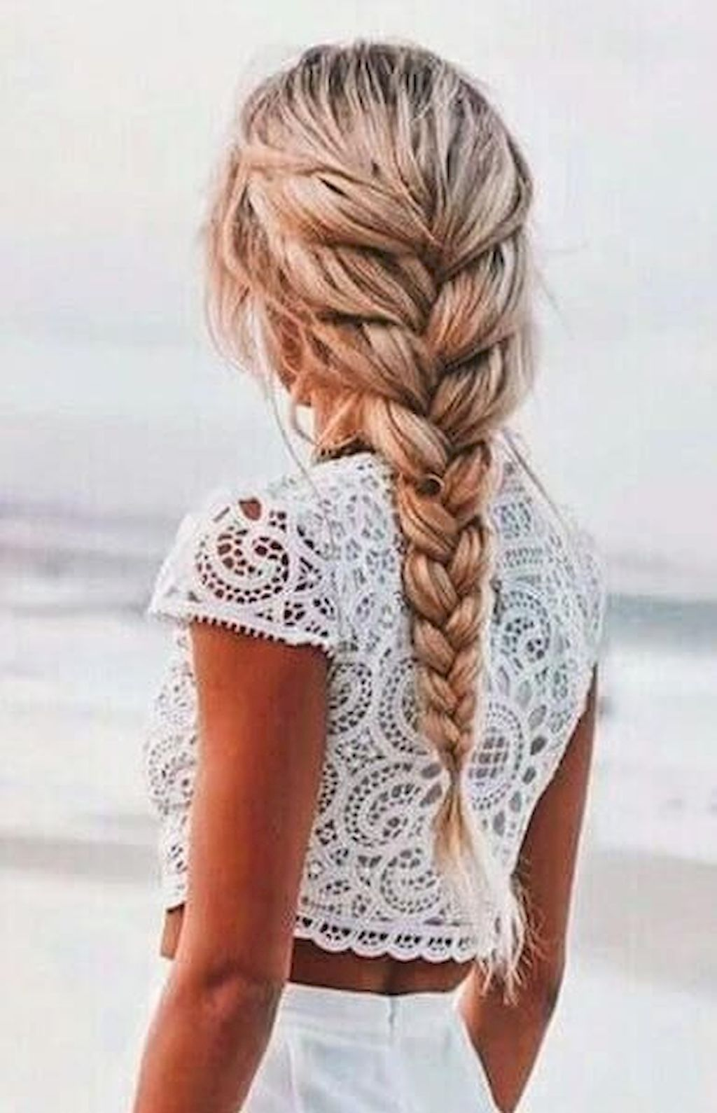 Easy Braided Hairstyle For Summer 2018
