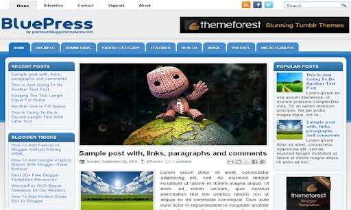 Bluepress blogger template blogger templates 2018 bluepress blogger template maxwellsz