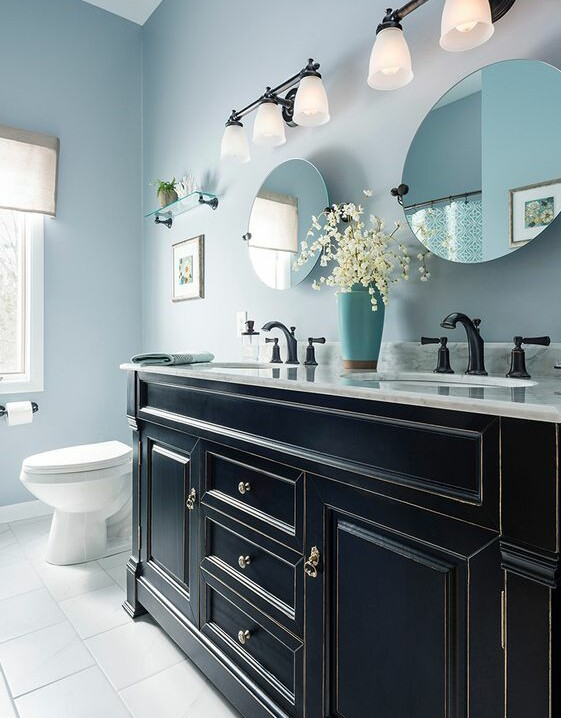 Epic I used gel stain on the cabinets in my last home hall bathroom and it was gorgeous Not sure if that would be too much