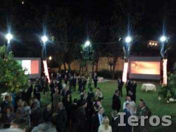 retroproiezione roma schermi ambasciata