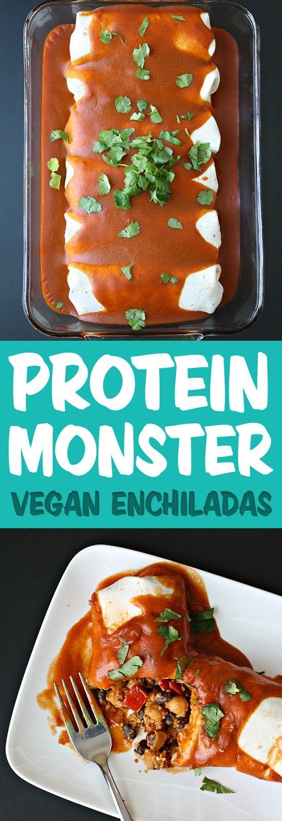 Protein Monster Vegan Enchiladas