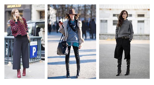 Уличная мода сапоги