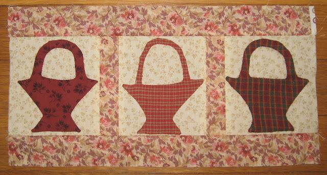 Block G, Baskets, for Linda Brannock's Flowers Quilt