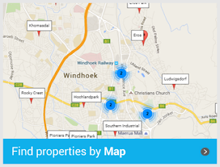 Search properties in Namibia by map