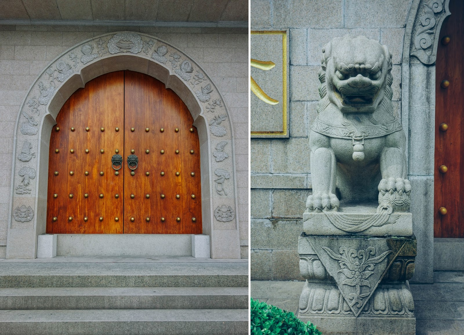 Main Door of Jing'an Temple Shanghai