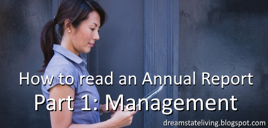 woman readon on a tablet. how to read an annual report the management perspective