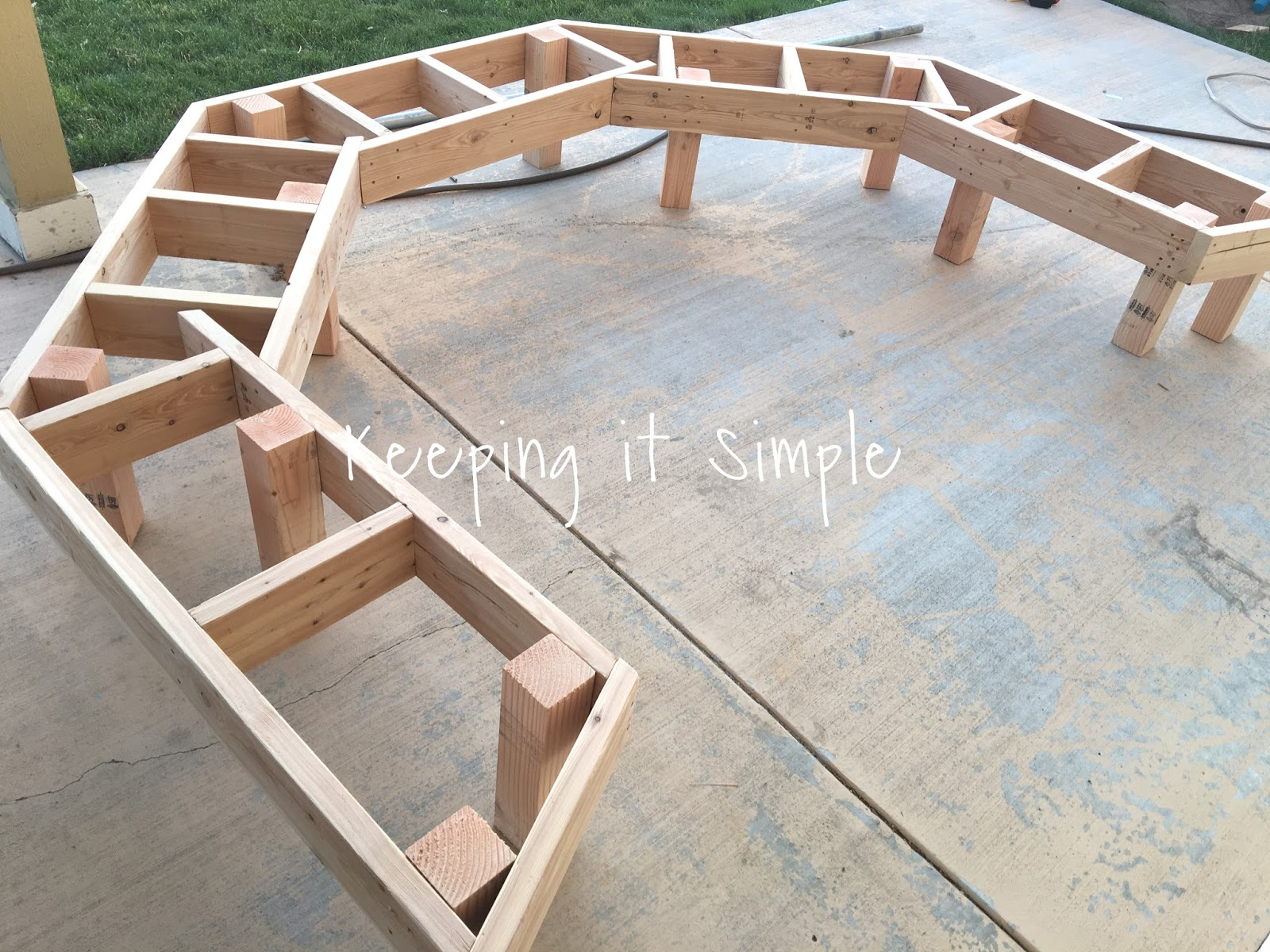 diy fire pit bench with step by step