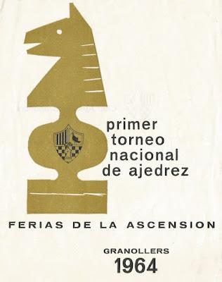 Portada del programa del I Torneo Nacional de Ajedrez de Granollers 1964