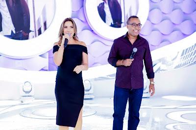 Patricia e Dudu Nobre  Crédito: Gabriel Cardoso/SBT
