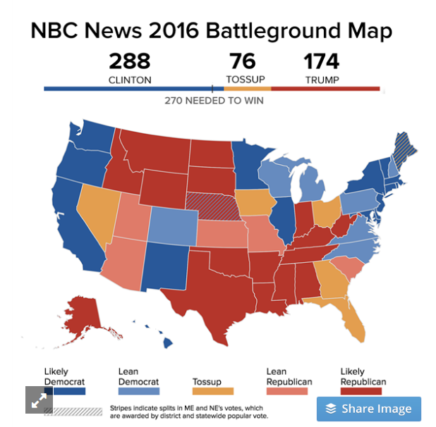 The Digital Firehose What If All Of Us Including Donald Trump - Us-map-popular-vote-2016