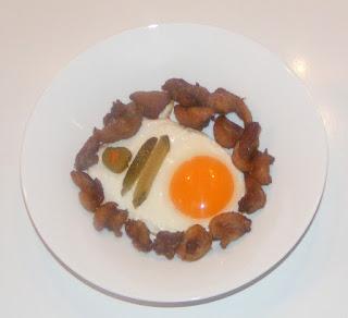 retete rapide cu jumari si oua prajite la tigaie, preparate rapide din jumari de rata si oua prajite, retete culinare,