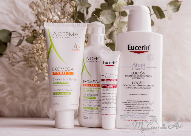 Gamas para pieles atópicas Atopi Control de Eucerin y Exomega Control de A-Derma.