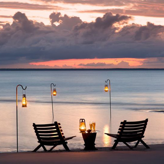 Safari Fusion blog | Romance safari style... | Watching the sunset across the Indian Ocean at Benguerra Island, Mozambique
