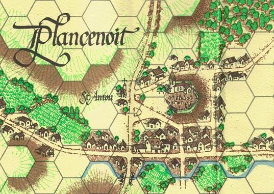 Plancenoit on the map for La Bataille de Mont Saint Jean published by Clash of Arms