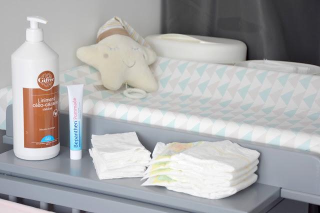Ma sélection de produits pour le change de bébé