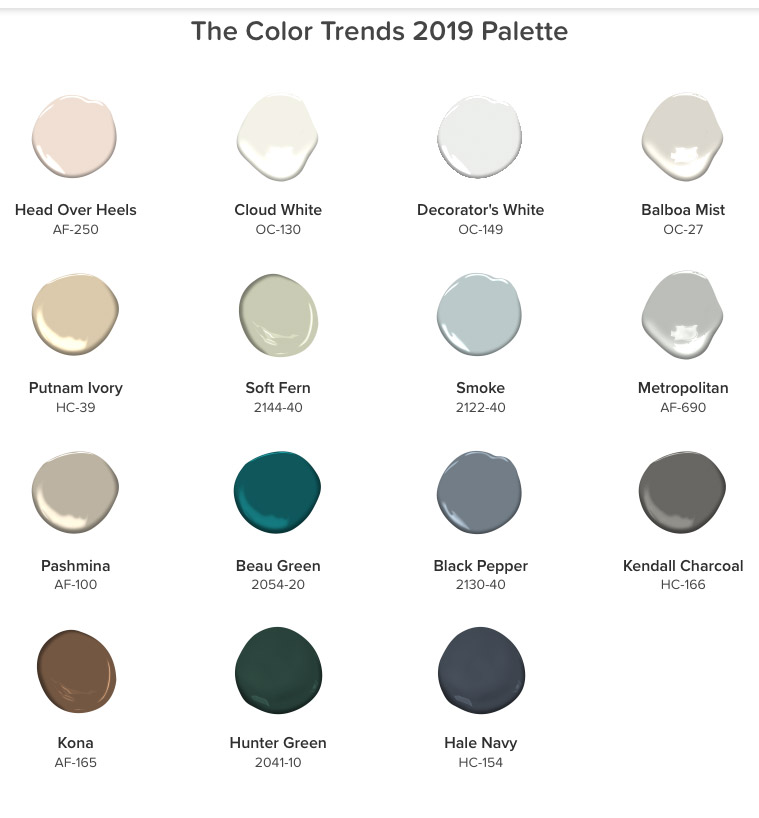 New Paint Colors For 2020 Color Trends   Spring 2019 2020 | Gina Jane Studios