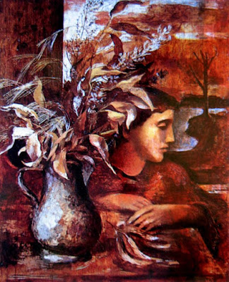 Figure with Leaves and Wheat, Jean Bellette