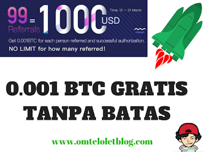 Cara Mendapatkan 0.001 BTC Tanpa Batas