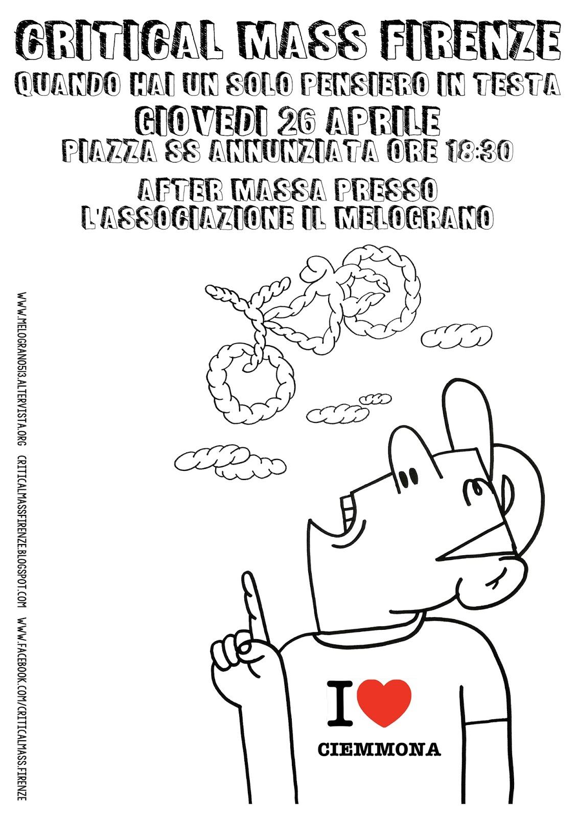 Volantino Critical Mass Firenze