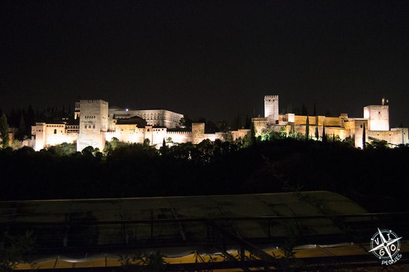 Cena del blogtrip puleva en Albaizin con espectaculares a la Alhambra