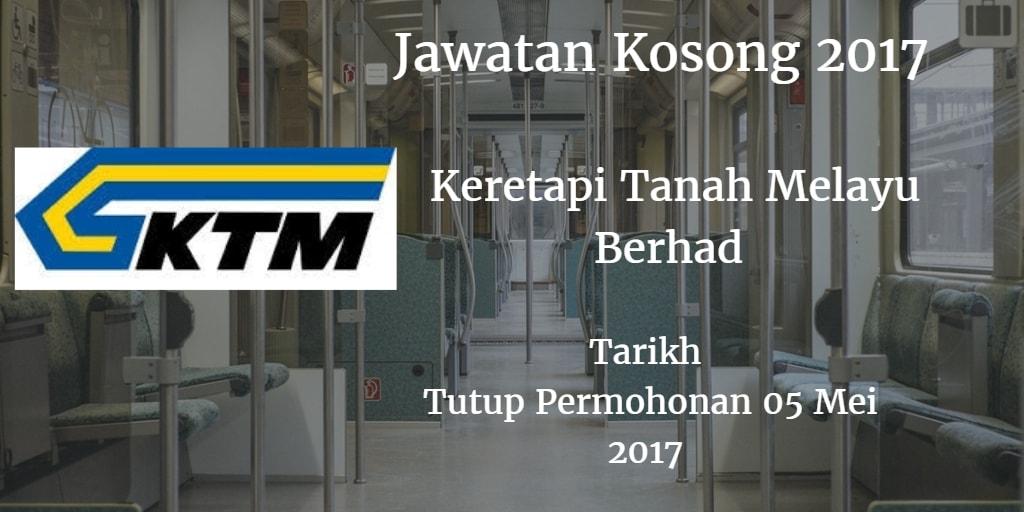 Jawatan Kosong KTMB 05 Mei 2017