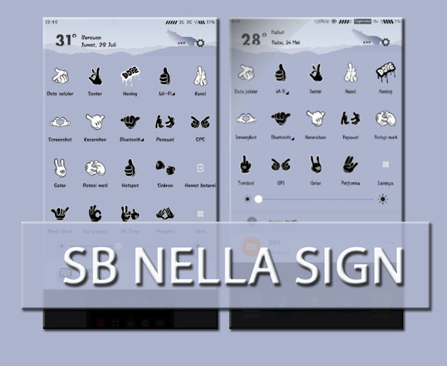 Custom SB Mod Nella Sign Language Mtz For StatusBar Xiaomi MIUI