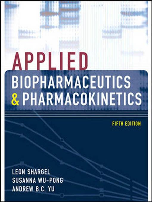Concepts in clinical pharmacokinetics 5th edition