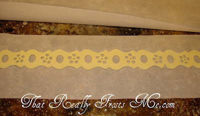 That really frosts me white chocolate lace for Chocolate lace template
