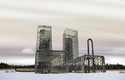 diseño arquitectónico de edificio futurista