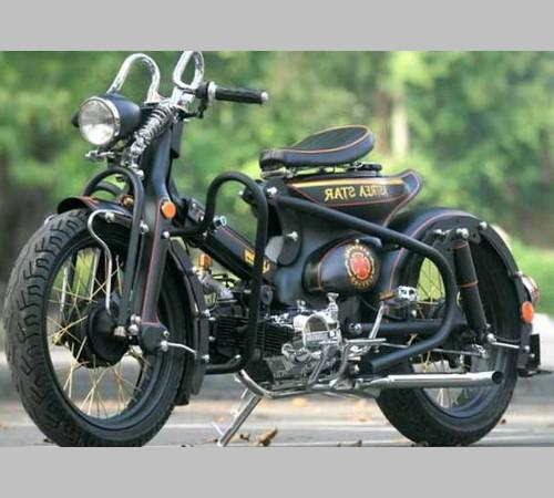 foto modifikasi sepeda motor honda   modif jok