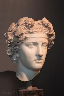 Voyage à Rome, Sculptures, Rome, photo, musées capitolins, Palais des Conservateurs, tête de Dionysos, Dionysos,