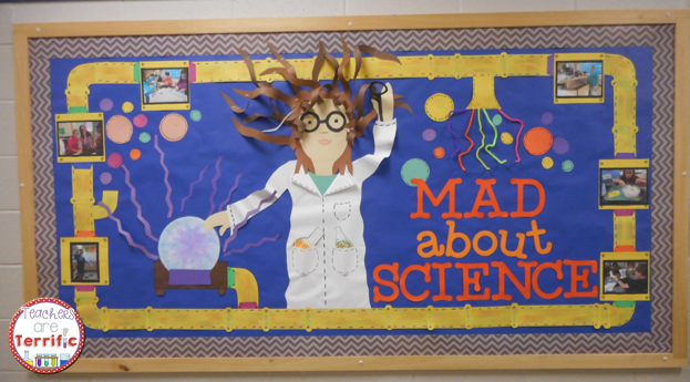 Science Bulletin Board! Here's the finished version of my mad scientist board!