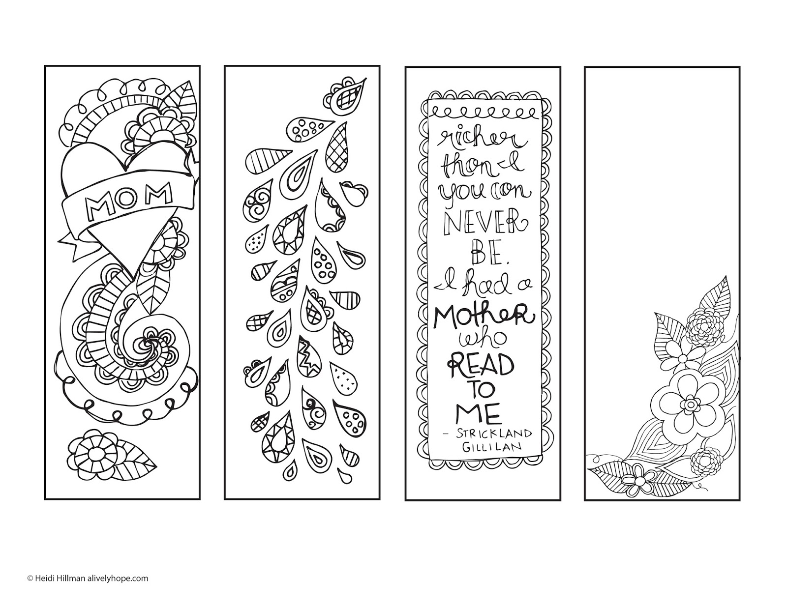 A Lively Hope Mother S Day Printable Bookmarks