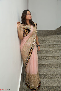 Shilpa Chakravarthy in Lovely Designer Pink Saree with Cat Print Pallu 005.JPG