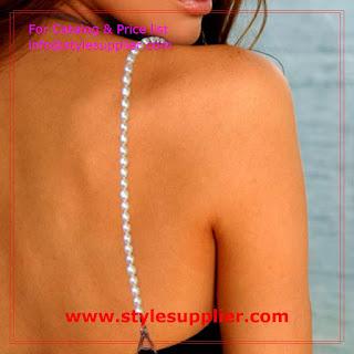 bra straps pearls