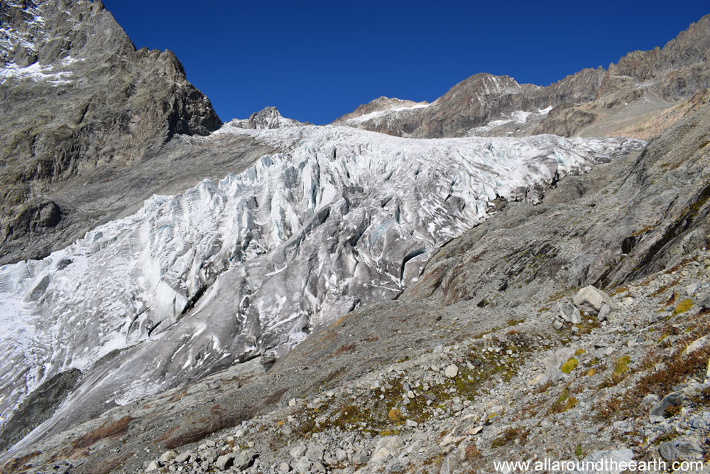 Glacier Blanc in the Ecrins National Park of the French Alps