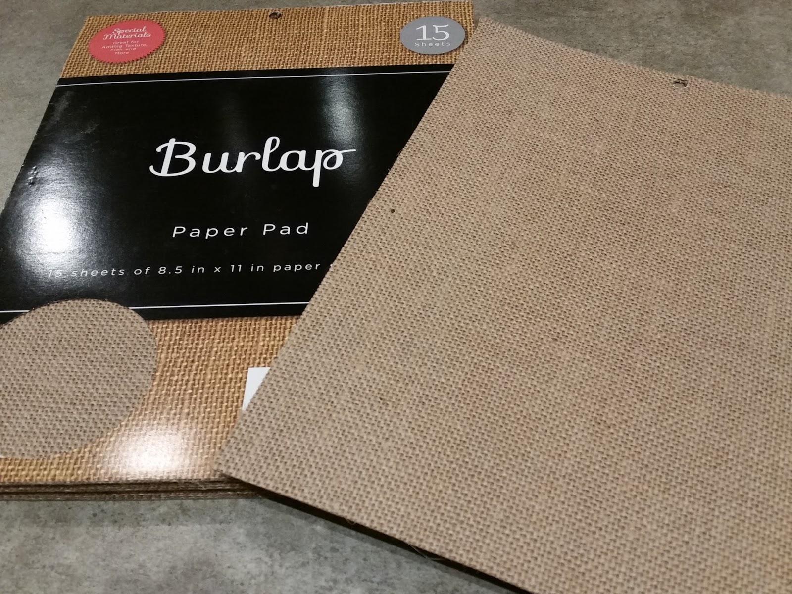 Burlap Paper Pad