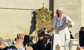 La Hermandad de Huelva recibió la bendición del Papa Francisco en su peregrinación a Roma
