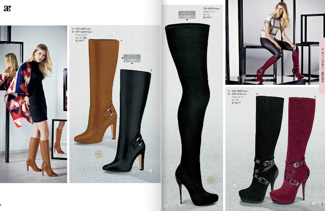 Catalogo de botas altas Andrea