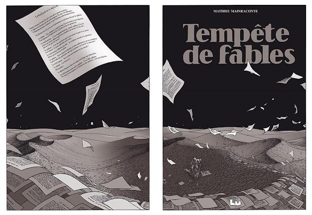 """page extraite de """"LE LIVRE DES LIVRES"""" de Marc-Antoine Mathieu chez Delcourt"""